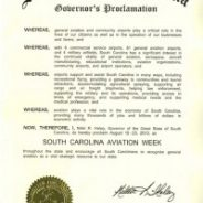 Governor Nikki Haley Proclaims August 19-23 SC Aviation Week